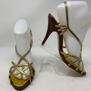 Magrit, Metallic Strappy Heels Size 38(7.5)  (805)